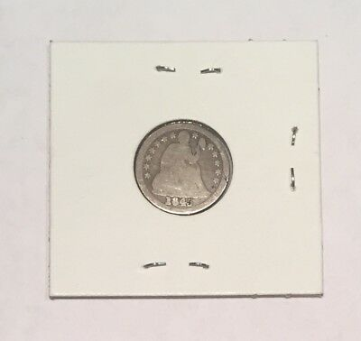 1845 Silver Seated Liberty Dime