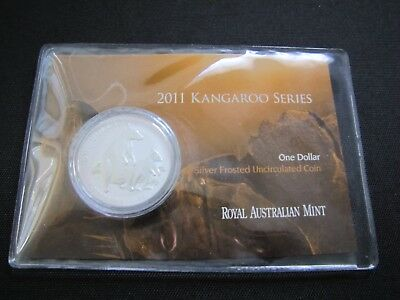 2011 $1 Kangaroo Series 1 oz. Silver Frosted Coin (20,000 Minted)