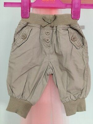 Lovely Baby Girls Designer Ted Baker Brown Cuffed Trousers 3-6m🌸