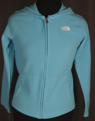 The North Face Hoodie Girls Size Large 14/16 Blue Full Zip 2 Pockets
