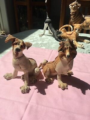 """Collectible Figurines """"A Breed Apart"""" 3 Dogs"""