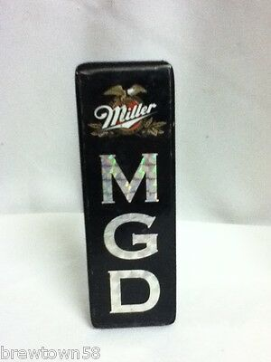 Miller Genuine Draft beer tapper handle brewery tap taps tappers knob pull B8