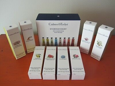 Crabtree & Evelyn - 8 x 25g Boxed Hand Therapy - Great Gifts NEW & HARD TO FIND