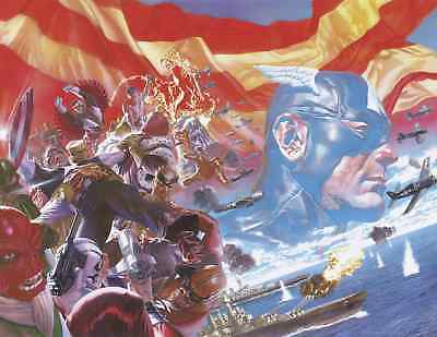 CAPTAIN AMERICA 1 vol 9 2018 1:100 ALEX ROSS VIRGIN VARIANT NM