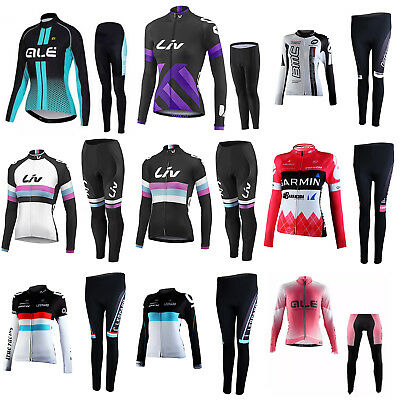 Sports Riding Bicycle Bike Cycling Women Clothing Long Sleeve Jersey Pant Kit