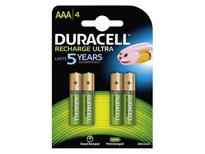 4 X Duracell Micro AAA Batterie Rechargeable 850 Mah HR03 Ultra Nimh Pile