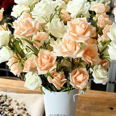 PE large roses artificial flowers home decoration flower rustic_style