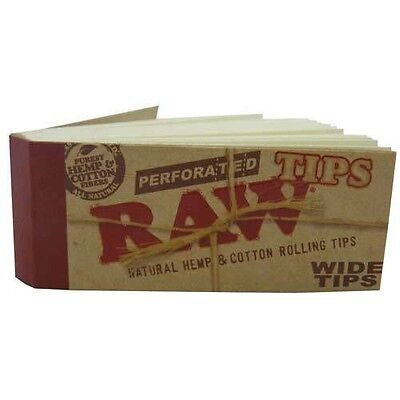 RAW Natural Wide Unbleached Roach Tips