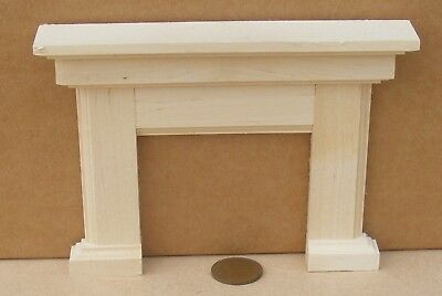 1:12 Scale Natural Finish Wooden Fire Surround Tumdee Dolls House DIY Accessory