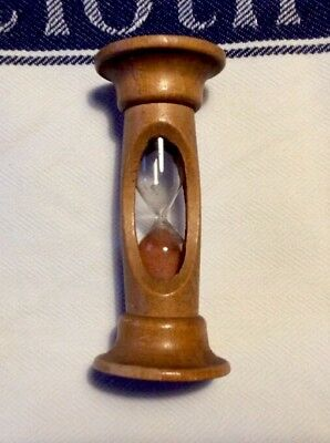 Vintage/antique TREEN EGG TIMER. Fruit Wood? 10cm High.