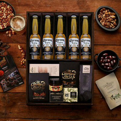 The Hamper Emporium – Corona Beer Hamper Keepsake Gift Box Mixed Nuts