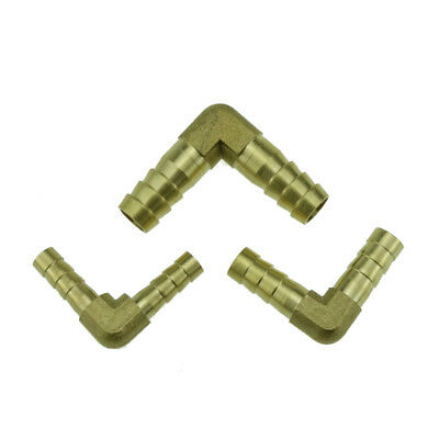"Brass Hose Tail Barb Fitting Elbow For Hose ID 6mm(1/4"")8mm(5/16"") 10mm(3/8"")"