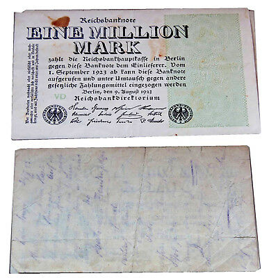 1 Million Mark 1923 Condition 4 Vg-G Strong Used ##