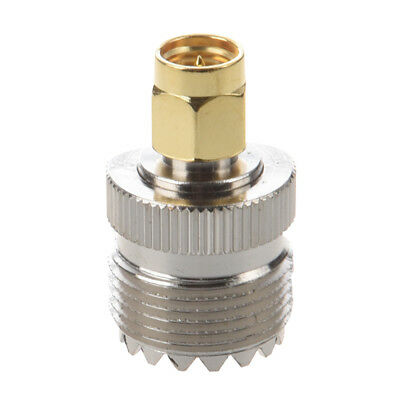 5X(UHF SO-239 SO239 Female to SMA Male Plug Connector Coaxial Adapter X4V3)