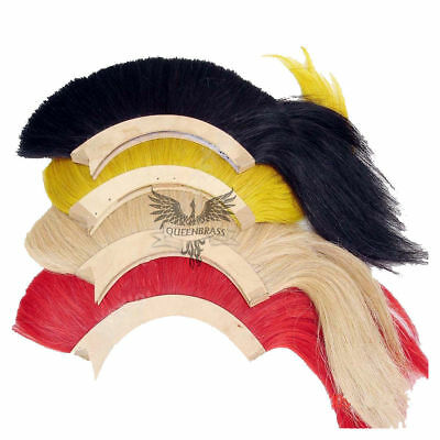 Helmet Hair Plume Brush 4 Pcs for Roman Greek Corinthian Helmet 4 Color