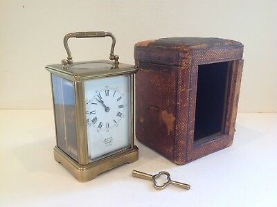 Beautiful Original French Carriage Clock From Drocourt Paris Full Service 2018