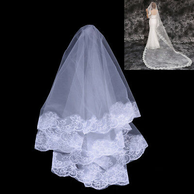1 pcs Simple Bridal Tulle White Ivory Wedding Wedding Accessories J&C