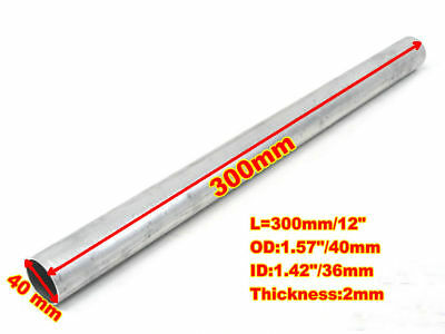 "ALUMINIUM ROUND STRAIGHT TUBE PIPE 1.6"" 40mm OD x 300mm LENGTH 2mm WALL THICK"