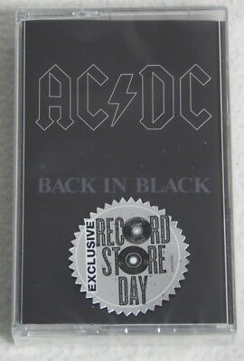 AC/DC - Back in Black - Tape & T-Shirt Record Store Day Exclusive Bundle - NEW!