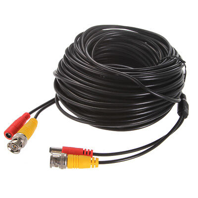18m/20m BNC+DC Male to Female Adapter Security CCTV Camera Video Extension Cable