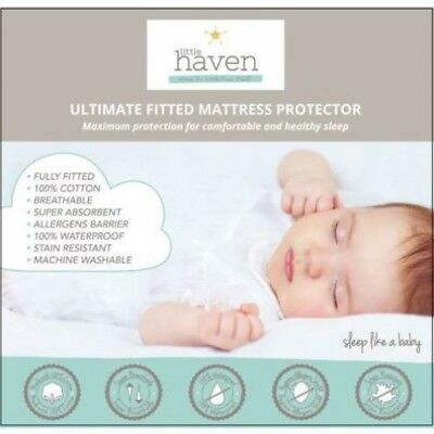 Little Haven Bassinet Mattress Protector  Waterproof Cotton (40 x 80)