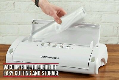 Andrew James Food Vacuum Sealer Sous Vide Packing Machine and Rolls