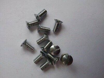 "4 BA x 5/16"" RAISED COUNTERSUNK  PLATED BRASS SCREWS SATIN FINISH QUANTITY 12"