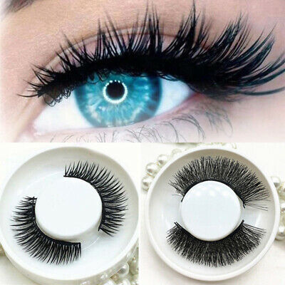 4pcs 3D faux cils magnétiques sans colle naturel Extension Eye Lashes Maquillage