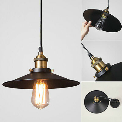 Hot Industrial Iron Vintage Fixture Ceiling Lamp Pendant Light Cafe Chandelier Z