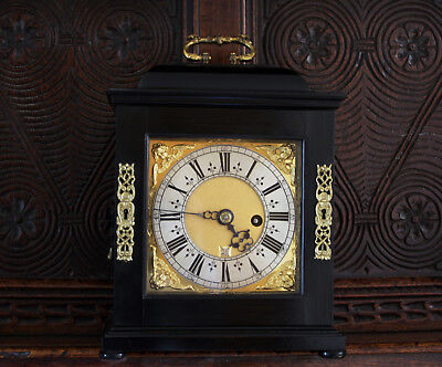 Benjamin Wright London - c1690 Ebony Bracket Clock movement serviced
