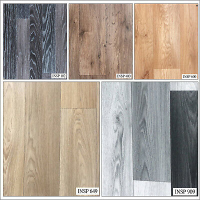 Wood Effect Anti Slip Vinyl Flooring Home Kitchen Bathroom High Quality Lino