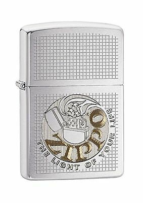Zippo Light of Life Windproof Pocket Lighter - Brushed Chrome