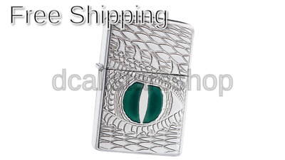 Zippo Armor Dragon Eye Regular Lighter - High Polish Chrome