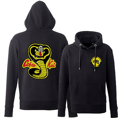 Cobra Kai FULLY EMBROIDERED PATCH Hoodie! Karate Kid DOJO Retro No Mercy Strike