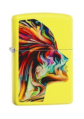 Zippo Colourful Head Regular Lighter - Neon Yellow
