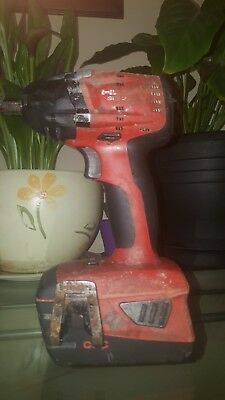 Hilti Siw 22-A Impact Wrench 1/2 inch. with one 3.3ah lithium Ion battery.