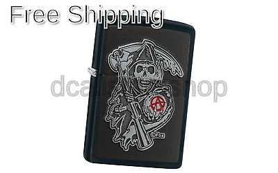 Zippo Unisex Soa Emblem Regular Windproof Lighter, Black Matte, One Size