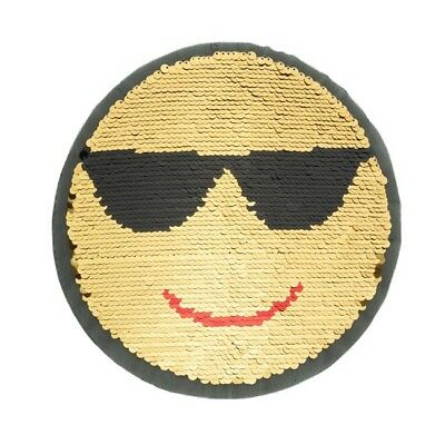 große Wendepailletten Applikation Smiley Patches 22 cm