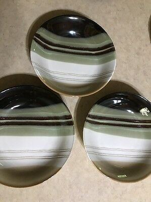 3 HOME TRENDS JAZZ Cereal / Soup Bowls Lot Brown Green - $15.99 ...