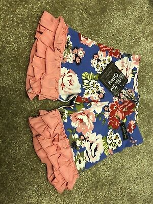 Matilda Jane Shorties Size 4 Floral Blue NWT