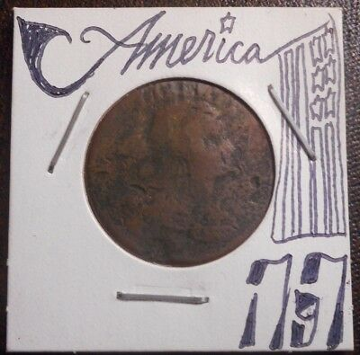 1797 Large Cent * hiSTORiC LOW GRade 1c dRAPEd bUST PENNY