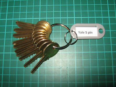 Yale 5 pin depth and space key set Locksmith Lock Sport New