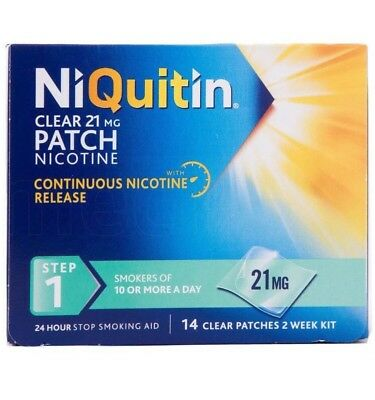 NIQUITIN clear 21 mg patch step 1  14 Patches/2week Supply