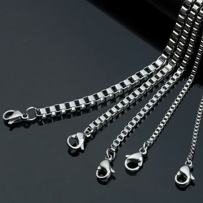 Stainless Steel Necklace Titanium Steel Chain Box Chain DIY Necklace Accessories