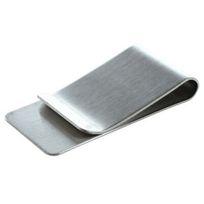 5X(Money Clip, Stainless Steel Silver E8L2)