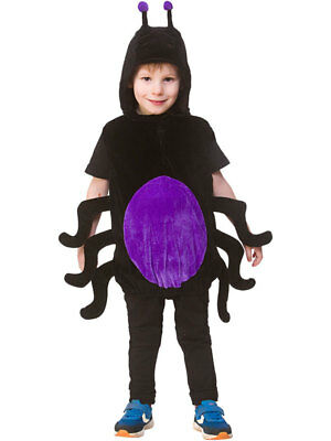 Childs Spider Costume Boys Girls Animal Fancy Dress Halloween Book Week Insect