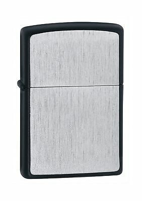 Zippo Framed Lighter - Brushed Chrome/Black Matte