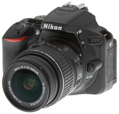 Nikon D D5500 24.2MP Digital SLR Camera - Black w/ 18-55mm Lens