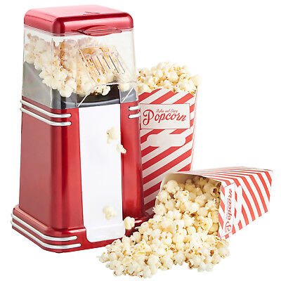 Popcorn Maker Machine Popper Hot Air Electric Cinema Fun 1200W Fat Free Retro