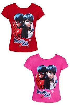 Official Licence Size 4-10 Years Girls Miraculous Ladybug T-Shirt